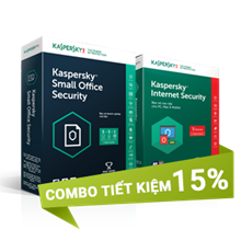 Combo 2: Kaspersky Small Office Security 5 và Kaspersky Internet Security 5U - 10 PCs + 5 Mobile + 1 Server