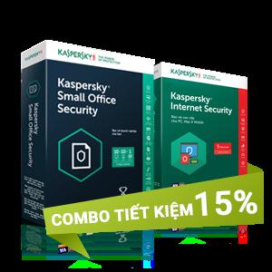 Combo 3: Kaspersky Small Office Security 10 và Kaspersky Internet Security 5U