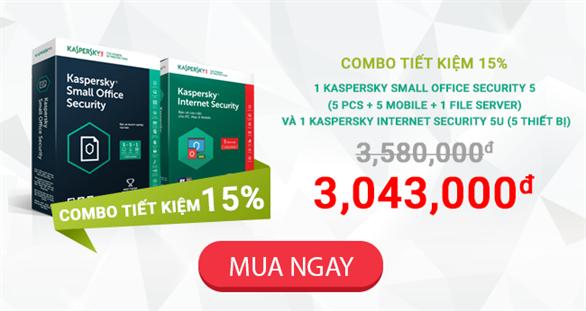 Kaspersky Proguide ưu đãi lớn ra mắt gói Combo siêu tiết kiệm