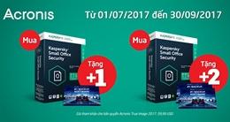 Khuyến mãi lớn mua Kaspersky Small Office Security tặng Acronis True Image 2017