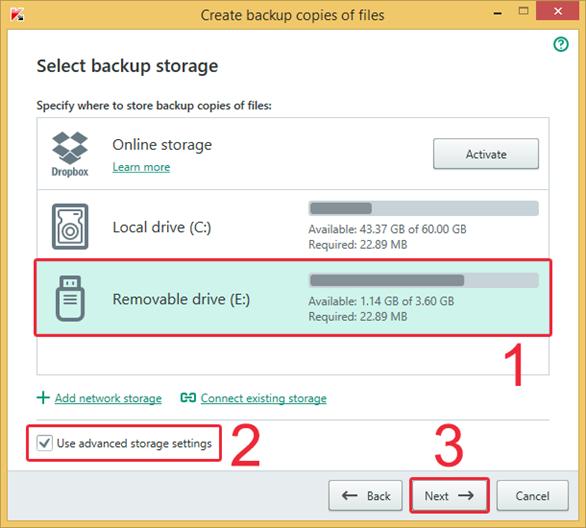 Hướng dẫn sao lưu dữ liệu với Kaspersky Total Security