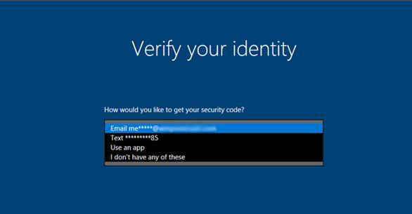 Windows 10 cho phép phục hồi mật khẩu đã quên ngay trên màn hình khóa