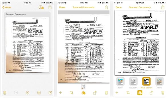 Scan văn bản miễn phí bằng iPhone với iOS 11