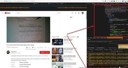 Quảng cáo trên Youtube có chèn mã đào tiền kỹ thuật số