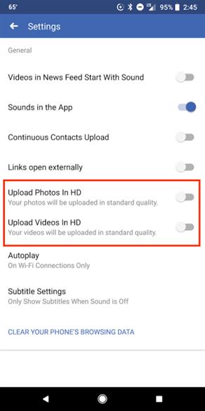 Cách đăng tải hình ảnh và video chất lượng HD qua ứng dụng Facebook trên di động