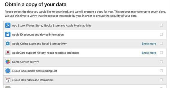 Hướng dẫn tải toàn bộ dữ liệu mà Apple thu thập từ bạn