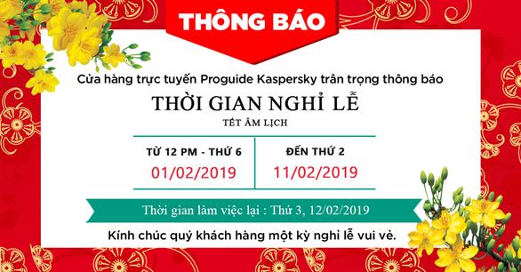Thông báo thời gian nghỉ lễ Tết Âm Lịch năm Kỷ Hợi 2019