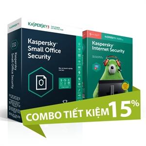 Combo 2: Kaspersky Small Office Security 5 và Kaspersky Internet Security 5U