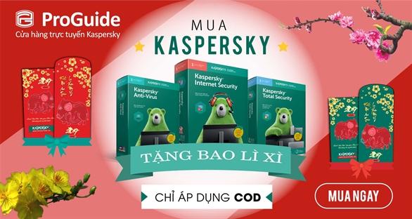 Nhân dịp Xuân đến Tết về, Kaspersky Proguide xin gửi tặng quý khách hàng những phong bao lì xì may mắn. Kính chúc quý khách hàng một năm mới phát tài phát lộc, may mắn và thịnh vượng.