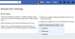 Tính năng cài đặt này giúp chuyên gia dễ kiểm tra ứng dụng di động Facebook và Instagram