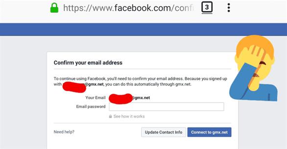 Facebook bị bắt gặp yêu cầu một số người dùng cung cấp mật khẩu của email của họ