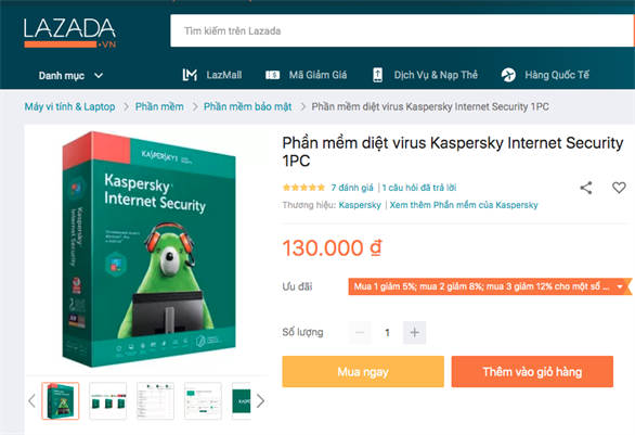 Hiện nay, trên mạng có hàng loạt lời rao bán các mã bản quyền phần mềm bảo mật Kaspersky với giá cực rẻ hoặc khuyến mãi khủng, giảm giá từ 40% đến 50% so với giá mà nhà phân phối chính hãng phát hành công bố. Liệu đây là tiết kiệm hay rước họa vào thân?