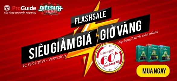 Flash sale - siêu giảm giá giờ vàng