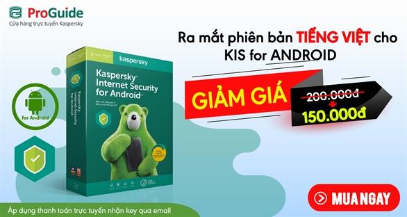 Ra mắt Kaspersky Internet Security dành cho Android phiên bản tiếng Việt giá chỉ còn 150,000 VND