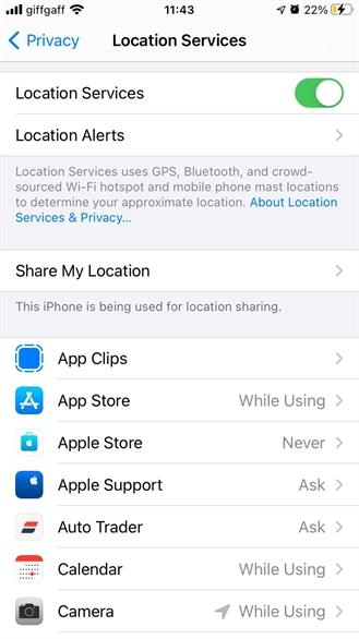 Hướng dẫn cách quản lý cài đặt định vị trên điện thoại iPhone