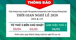 Thông báo nghỉ lễ Giải Phóng Miền Nam 30/4 và Quốc Tế Lao Động 1/5