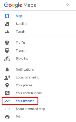 Cách xem và xóa dữ liệu định vị trên Google Maps