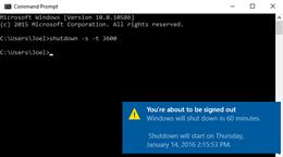Hướng dẫn thiết lập thời gian tắt máy cho Windows