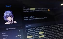 Tin tặc hack và chia sẻ miễn phí hàng triệu tài khoản Facebook Việt trên diễn đàn ngầm