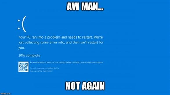 Máy tính bị màn hình xanh vì lỗi nghiêm trọng tháng 12 của Windows 10 version 2004 và 20H2