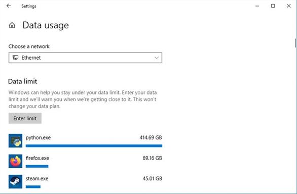 Cách giới hạn băng thông và sử dụng dữ liệu trong Windows