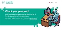 Kiểm tra mật khẩu có mạnh không với Kaspersky Password Checker