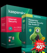 COMBO GIẢM 40% 01 KASPERSKY INTERNET SECURITY + 01 KASPERSKY INTERNET SECURITY FOR ANDROID